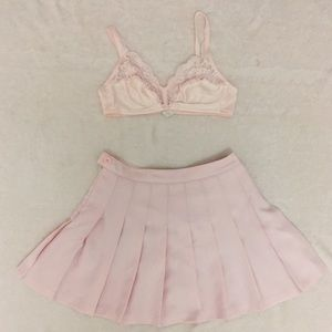 Vintage lace and satin bra